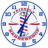 Personalized Barber Shop Wall Clock