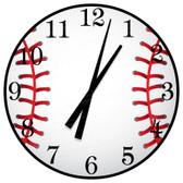 Baseball Themed Decorative Wall Clock