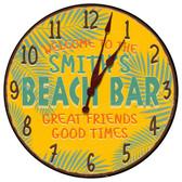 Personalized Beach Bar Decorative Wall Clock