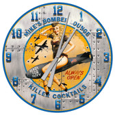 Vintage WWII Bomber Girl Style Decorative Wall Clock