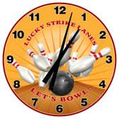 Personalized Bowling Decorative Wall Clock