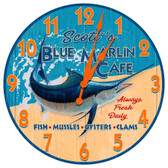 Personalized Seafood Restaurant Decorative Wall Clock