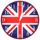 British UK Patriotic Flag Decorative Wall Clock