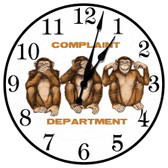 Monkey Business Complaint Department Decorative Wall Clock