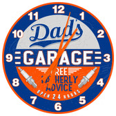 Dad's Garage Decorative Garage Wall Clock