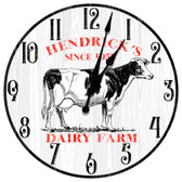 Personalized Dairy Farm Fresh Decorative Wall Clock