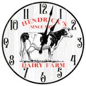 Personalized Dairy Farm Fresh Decorative Wall Clock