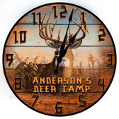 Personalized Deer Hunting Camp Decorative Wall Clock