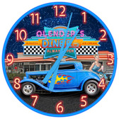 Personalized American Hot Rod Diner Wall Clock