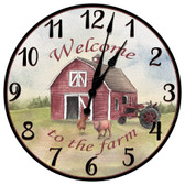 Farm Yard Welcome Decorative Wall Clock