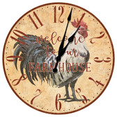 Farm House Welcome Decorative Wall Clock
