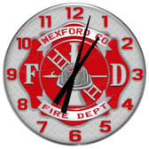 Personalized Fire Station Decorative Wall Clock