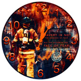 Personalized Firefighter Bravery Decorative Wall Clock