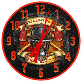 Personalized Firefighter Mask Decorative Wall Clock