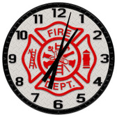 Fire Department Emblem Decorative Wall Clock