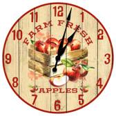 Apple Farm Themed Decorative Wall Clock