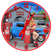 Personalized Vintage Gas Station Decorative Wall Clock