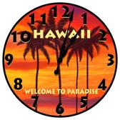 Personalized Paradise Sunset Decorative Wall Clock