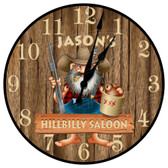 Personalized Hillbilly Saloon Decorative Wall Clock