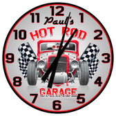 Personalized Vintage Hot Rod Decorative Wall Clock