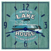Personalized Lake House Pontoon Themed Wall Clock