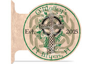 Celtic Cross customized double sided metal flange sign