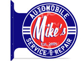 Automotive Repair Shop Themed customized double sided metal flange sign