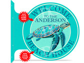 Beach House Sea Turtle Themed customized double sided metal flange sign