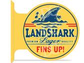 Landshark Lager Themed double sided metal flange sign