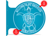 Sea Turtle Beach House Welcome Sign
