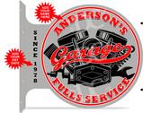 Full Service Car Repair Shop Red