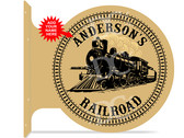Locomotive Train Room Sign