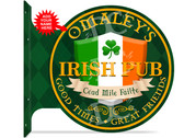 Irish Pub customized double sided metal flange sign
