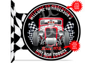 Hot Rod Racing Garage Sign