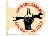Assholes Garage Sign