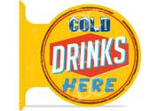 Cold Drinks Vintage Metal Sign