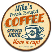 Vintage Coffee Shop Metal Wall Sign