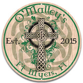 Celtic Ireland Cross Metal Sign