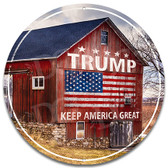 Donald Trump Support Barn Themed Metal Sign