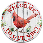 Red Cardinal Metal Wall Sign