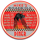 Roadkill Diner Home Kitchen Metal Sign