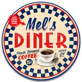 Retro Diner Cafe 50's Metal Sign