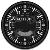 Pilots Airplane Altitude Black Metal Sign