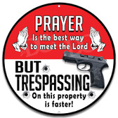 No Trespassing Handgun Warning Home Sign