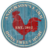 Red Rooster Farmhouse Metal Sign