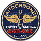 Vintage Repair Garage Metal Sign