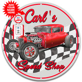 Speed Shop Garage Metal Sign Red