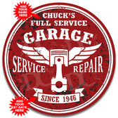 Vintage Service and Repair Metal Signs