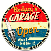 Vintage Mechanic Dad's Metal Garage Sign