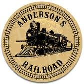 Railroad Train Room Metal Wall Sign